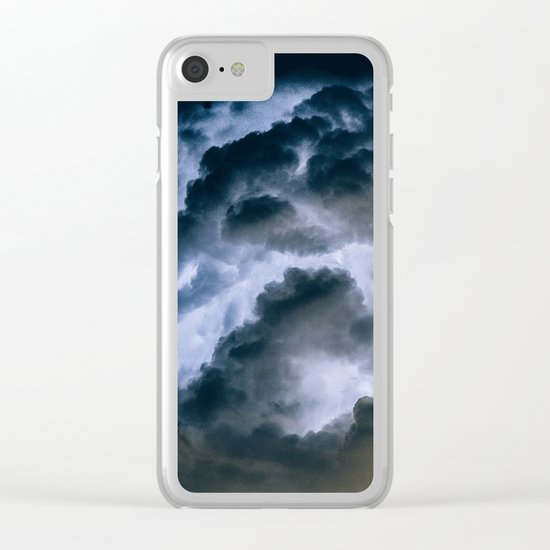 Lightning #clouds Clear iPhone Case