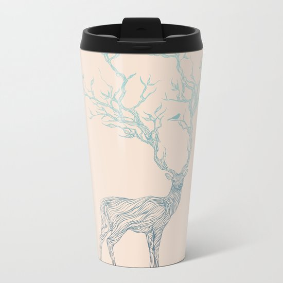 Blue Deer Metal Travel Mug