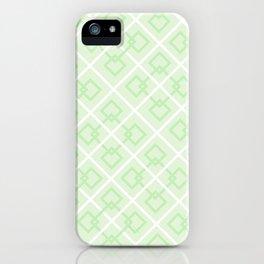 Zesty Green Interlock Cross Pattern iPhone Case