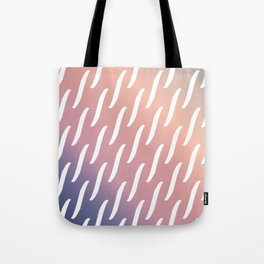 Pastel Pink and purple twist pattern Tote Bag