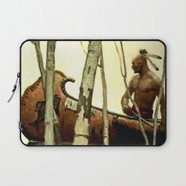 "N C Wyeth Vintage Western Painting ""Birchbark Canoe"" Laptop Sleeve"