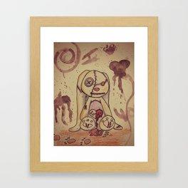Love Lost Bunny Framed Art Print