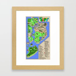 Super Mario NYC Framed Art Print