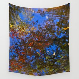 Rippled Water and Leaves 2 Wall Tapestry