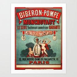 Vintage poster - Biberon-Pompe Art Print