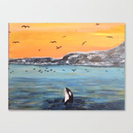 Flipper the Orca Canvas Print