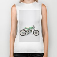 cafe racer Biker Tanks featuring Café Racer par Choppersteel by David Bascuñana