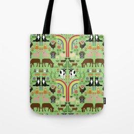 Noah's Farm Animals Tote Bag