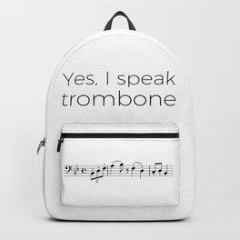 I speak trombone Backpack
