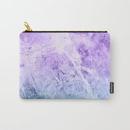 Lilac & Blue Marble Texture Carry-All Pouch