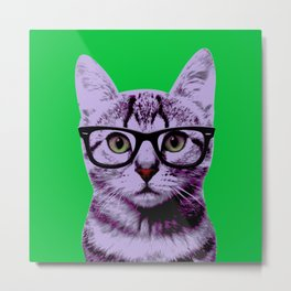 Warhol Cat 3 Metal Print