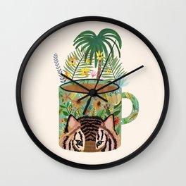 Tiger Mug Wall Clock