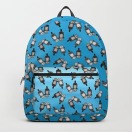 Otters Holding Hands - Otter Couple Backpack