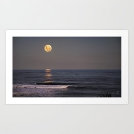 Perigee Moonrise Art Print
