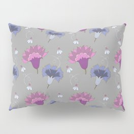 Violet And Blue Floral Pattern Pillow Sham
