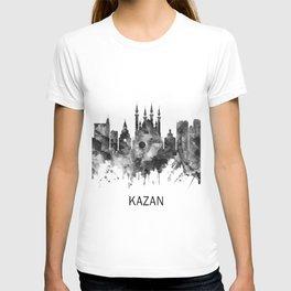 Kazan Russia Skyline BW T-shirt