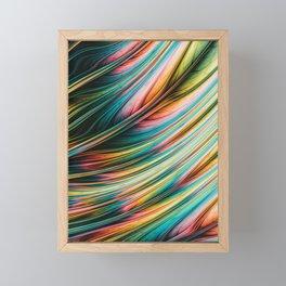 Feral Fiber. Abstract Art Framed Mini Art Print