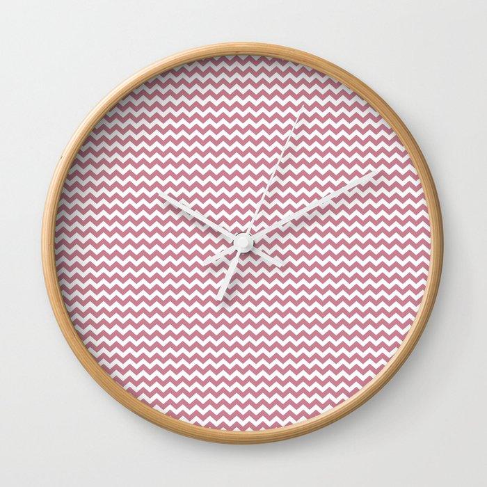 Chevron Rose Wall Clock