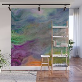 In Search of a Rainbow Abstract Painting Wall Mural