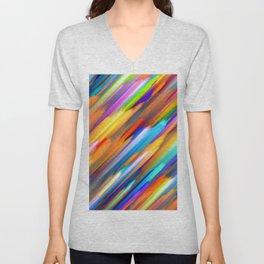 Colorful digital art splashing G391 Unisex V-Neck