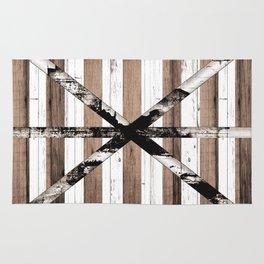 Rustic Multi Wood Barn Door Rug