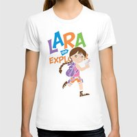 megan lara T-shirts featuring Lara the Explorer by Gimetzco's Damaged Goods
