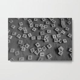 Letters Metal Print