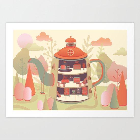 Dream home art print by mila spasova society6 for Dream home season 6