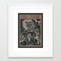 iron maiden Framed Art Prints featuring Eddie the Head / Iron Maiden (DRAWLLOWEEN 8/31) by pakowacz