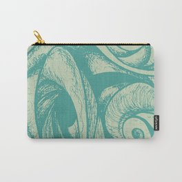 swirl (green and tan) Carry-All Pouch