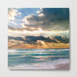 Florida Emerald Coast Sunset Metal Print