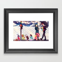 When it rains - Markiplier + Jacksepticeye Framed Art Print