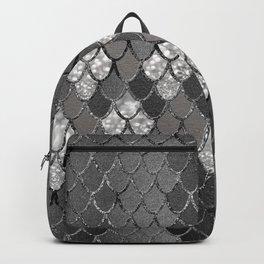Mermaid Scales Silver Gray Glitter Glam #1 #shiny #decor #art #society6 Backpack