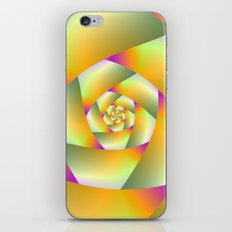 Yellow Pink and Green Spiral iPhone & iPod Skin