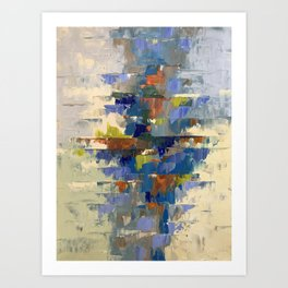 Balanced in Blue Abstract Art Print