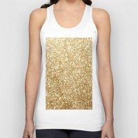 gold glitter Tank Tops featuring Gold glitter by Masanori Kai