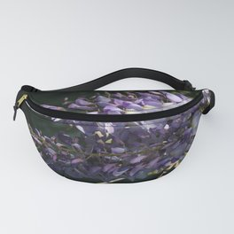 Wisteria With Garden Background Fanny Pack