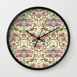 Orchid Art Nouveau Wall Clock