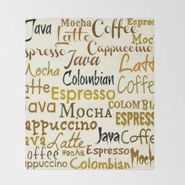 COFFEE LINGO Throw Blanket