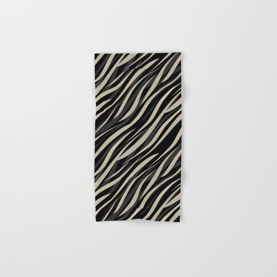 Tiger abstract striped pattern . Hand & Bath Towel