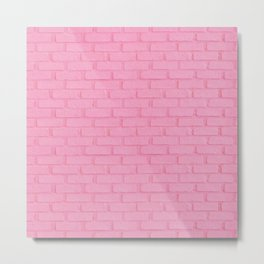 PAINTED PINK BRICK WALL Metal Print