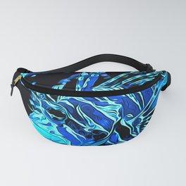 lionfish vector art blue Fanny Pack