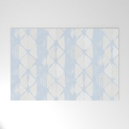 Simply Braided Chevron Sky Blue on Lunar Gray Welcome Mat