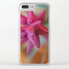 Flowering Air Plant Clear iPhone Case