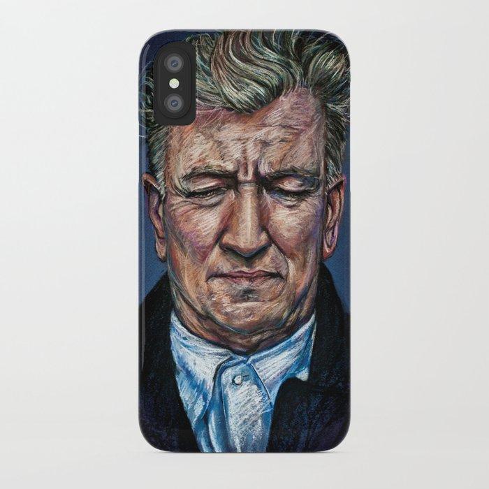 Change Begins Within - David Lynch Portrait iPhone Case
