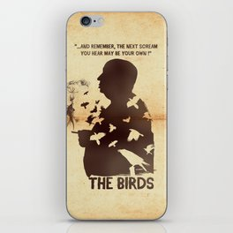 The Birds Hitchcock silhouette art iPhone Skin