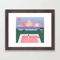 Poolside Views Framed Art Print