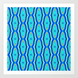 Aqua Arabesque Art Print