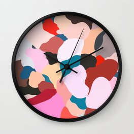 petals: abstract painting Wall Clock