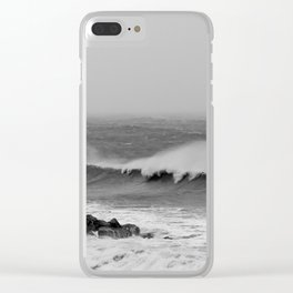 Storm over the sea coast. Clear iPhone Case